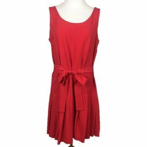 VTG 80's Rampage Red Pleated Sleeveless Dress